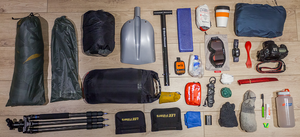 winter camping equipment