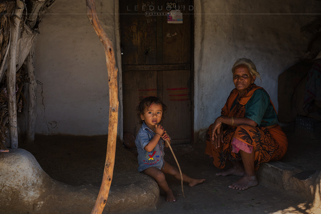 elderly lady and child India