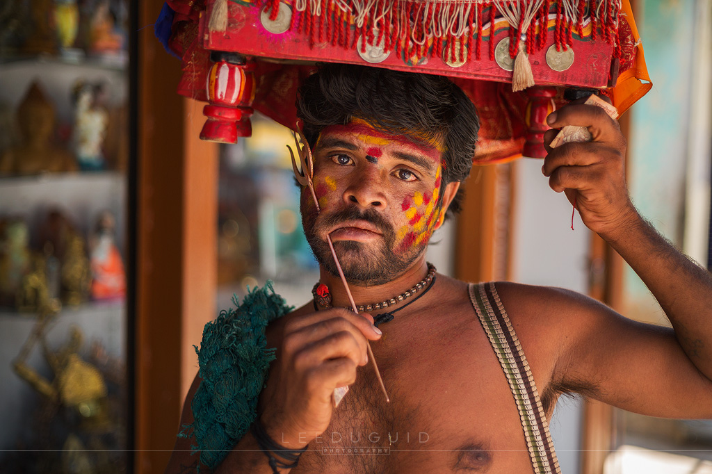 religious man piercing India portrait