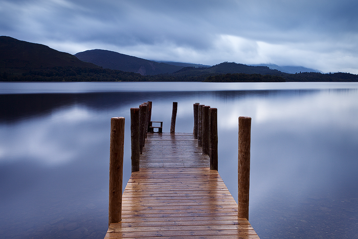 Ashness Landing Pier, Derwentwater, Lake District National Park, Cumbria, England